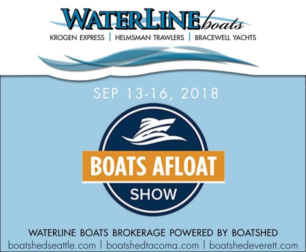 Waterline Boats at Boats Afloat - Helmsman Trawlers - Bracewell Yachts - Krogen Express - Boatshed