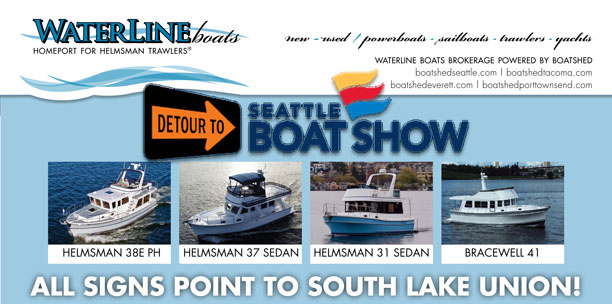 Waterline Boats at Seattle Boat Show